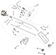 Штанга в сборе триммера Ryobi RLT30 CD (рис. 1)