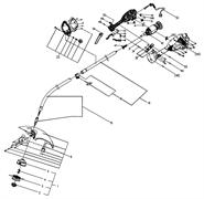 Верхняя штанга триммера Ryobi RLT6038 EX (рис. 18)
