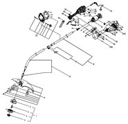 Кабель питания триммера Ryobi RLT6038 EX (рис. 53)