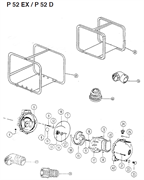 Корпус помпы мотопомпы Caiman P52EX / P52D (рис.42)
