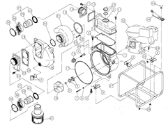 Крышка насоса мотопомпы Caiman SWT80EX (рис.19)