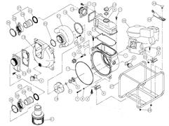 Прокладка улитки мотопомпы Caiman SWT80EX (рис.20)