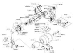 Крыльчатка электродвигателя насосной станции Al-Co HW 1001 Inox (рис.460157)
