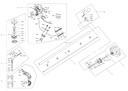 Головка в сборе триммера Калибр БК- 800/4М (рис. 6)