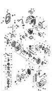 Стартер в сборе триммера Калибр БК-750 (рис. 45)