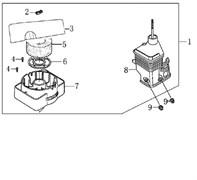 Корпус воздушного фильтра культиватора Efco MZ 2050 R - MZ 2050 RX (рис. 1)
