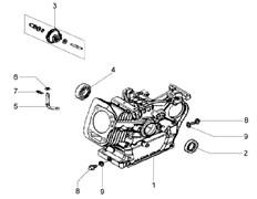 Сальник культиватора Efco MZ 2050 R - MZ 2050 RX (рис. 2)