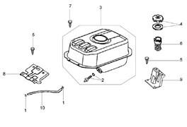 Топливный бак культиватора Efco MZ 2050 R - MZ 2050 RX (рис. 3)