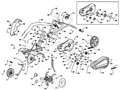 Трос культиватора Efco MZ 2050 R - MZ 2050 RX (рис. 22)