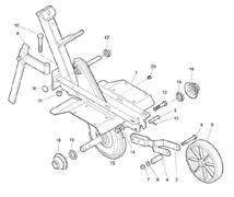 Кронштейн колеса культиватора Efco MZ 2095 R (рис. 2)