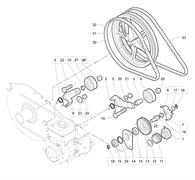 Ролик культиватора Efco MZ 2095 R (рис. 4)
