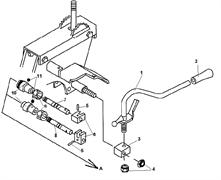 Рычаг переключения передач культиватора Champion BC 8713 (рис. 1)