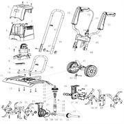 Двигатель культиватора DDE ET-1200-40 (рис. 6)