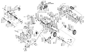 Фланец кольца фрикциона сцепления снегоуборщика SnowLine 620 E (рис.96)