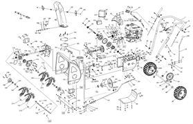 Панель управления снегоуборщика SnowLine 620 E (рис.27)