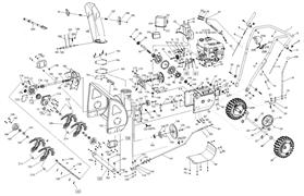 Прокладка редуктора шнека снегоуборщика SnowLine 620 E (рис.225)
