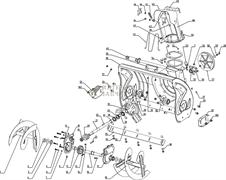 Корпус редуктора (левая часть) снегоуборщика RedVerg RD-24065-17