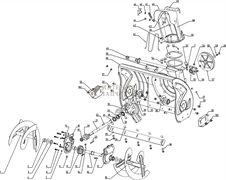 Шнек правый  снегоуборщика RedVerg RD-24065-1