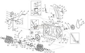 Колесо привода гусеницы снегоуборщика RedVerg RD-37013E-256