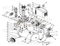 Вентилятор  компрессора BAUMASTER AC-9424LX-16