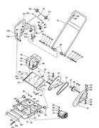 Кожух внутренний ремня виброплиты Masalta MS90 (рис.52)