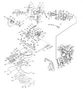Корпус мотора пилы торцовочно - усовочной корвет 4 (2) (рис.129)
