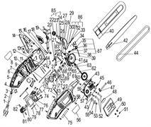 Корпус-накладка левая электропилы Энкор ПЦЭ-2400/18Э (рис.5)