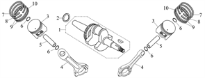 коленвал \ CRANK SHAFT COMP бензогенератора Elitech БЭС 12000 Е (рис.1) - фото 22070