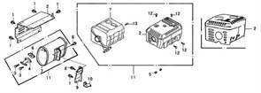 фланцевый болт М6?12 бензогенератора Elitech БЭС 1800 (рис.1) - фото 22224