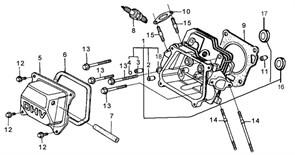 прокладка глушителя бензогенератора Elitech БЭС 2500 (рис.10) - фото 22524
