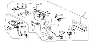 защитное устройство электрической цепи бензогенератора Elitech БЭС 2500 (рис.27)