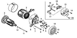 гайка фланцевая М4 бензогенератора Elitech БЭС 2500 (рис.19) - фото 22717