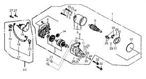 электрический стартер бензогенератора Elitech БЭС 2500 (рис.1)