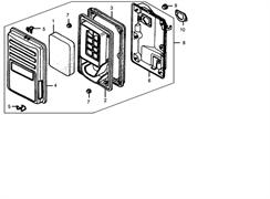 Элемент воздушного фильтра бензогенератора Elitech БЭС 2500 Р (рис.1)