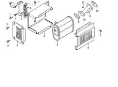 Прокладка выпускного коллектора бензогенератора Elitech БЭС 2500 Р (рис.13)