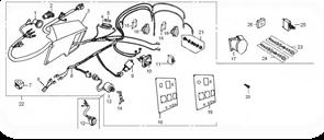 Жгут проводов в сборе БЭС 8000 бензогенератора Elitech БЭС 8000 / БЭС 8000 ЕТ   (рис.8) - фото 23568