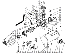 Крыльчатка вентилятора радиальная 134х14-в четверть 10-лопастей масляного коаксиального компрессора ElitechКПМ 200/24 (рис.44) - фото 25384