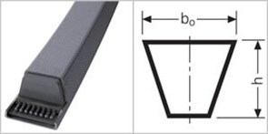 Приводной клиновой ремень 10X520 Z 20,5 Z 543