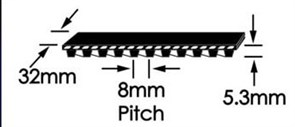 Ремень зубчатый шевронный  GoodYear W-800
