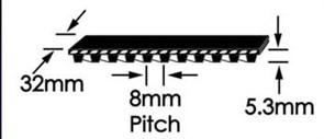 Ремень зубчатый шевронный  GoodYear W-1280