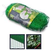 INBLOOM Сетка садовая для вьющихся растений 2х10м, пластик, зел., размер ячейки 15х15см