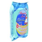 House Lux Салфетки влажные универсальные антибактериальные для уборки 6 в 1, 80шт, арт.48261