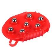 Массажер для тела, ПВХ, пластик, металл 13,5х9,5см, 2 цвета