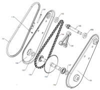 Вал редуктора культиватора Pubert MB 87 L (рис.102) - фото 307679