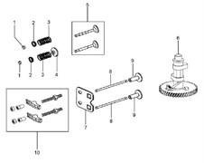 Клапана культиватора Efco MZ 2050 R - MZ 2050 RX (рис. 5) - фото 307861
