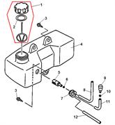 Топливный бак культиватора Echo TC 210 (рис. 4) - фото 308375
