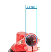 Редуктор триммера диаметр штанги 24 мм, посадочное место вала квадрат
