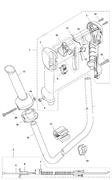 Фиксатор рукоятки триммера Husqvarna 135R (рис 18) - фото 33756