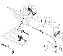 Верхняя штанга в сборе триммера Champion ЕТ1003А (рис 53) - фото 34438