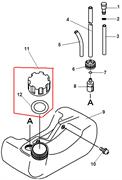 Топливный бак триммера Echo GT-22GES (рис. 9) - фото 34690